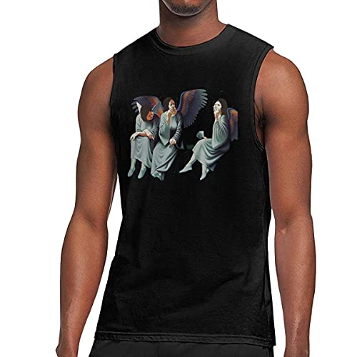 road Black Sabbath Heaven Men's Graphic Printed Classic Muscle Sleeveless Gym Workout T Shirt Camisetas y Tops(Medium)