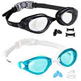 EverSport Swim Goggles, Pack of 2, Swimming Glasses for Adult Men Women Youth Teenager, Anti-Fog, UV...