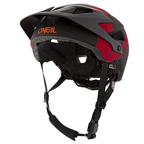 O'Neal   Casco da Mountainbike   all-Mountain   Prese d'Aria di Raffreddamento, Imbottiture Lavabili, Standard di Sicurezza EN1078   Casco Defender Nova   Adulto   Rosso Arancione   Taglia L XL