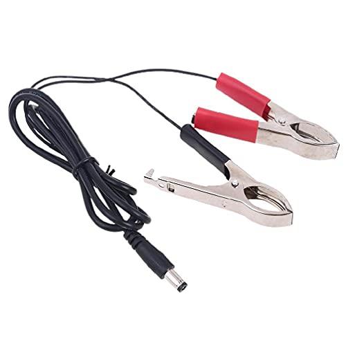 5.5x2.1mm DC enchufe conector macho a doble cocodrilo clip cable 100cm 100cm 5.5x2.1mm DC enchufe de alimentación