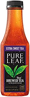 Pure Leaf Iced Tea, Extra Sweet, Real Brewed Black Tea, 18.5 Fl Oz Bottles (Pack Of 12)