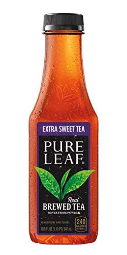 Pure Leaf Iced Real Brewed Black Tea, Extra Sweet, 18.5 Fl Oz (Pack of 12)