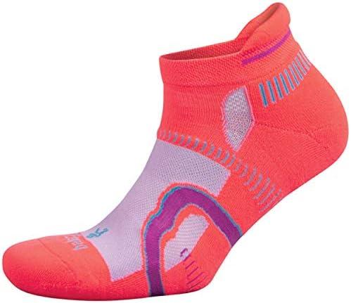 Balega Hidden Contour Socks For Men and Women 1 Pair Neon Coral Pink Medium product image