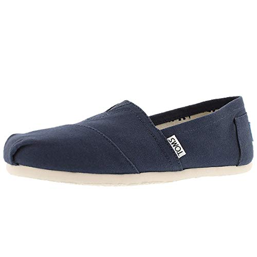 TOMS Women's Classic Alpargata Slip-On Shoe Navy Canvas 7 M