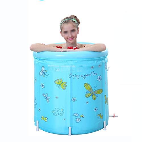 Chicti Opblaasbare opblaasbare badkuip, voor volwassenen, draagbaar, afmetingen 70 x 70 cm