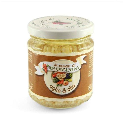 Montanini Aglio e Olio / Knoblauch gehackt in Öl 180 gr.