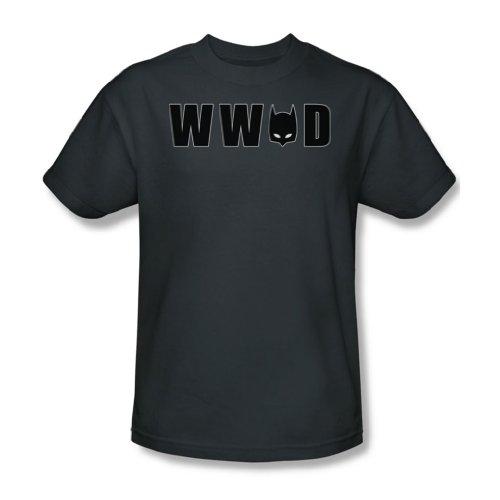 Batman - Wwbd Mask - Adult Charcoal Kurzarm T-Shirt für Männer, XX-Large, Charcoal