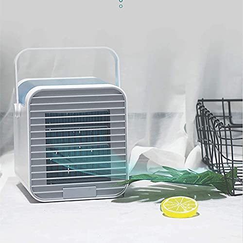 JANEFLY Portable Air Cooler,Small Portable Personal Air Conditioner, Portable Mini USB Air Conditioner,Air Cooler Desk Fan Cooling,Personal Space Air Conditioner for Home Office