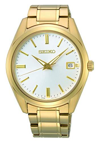 Seiko Quarz Herren-Uhr Edelstahl mit Metallband SUR314P1