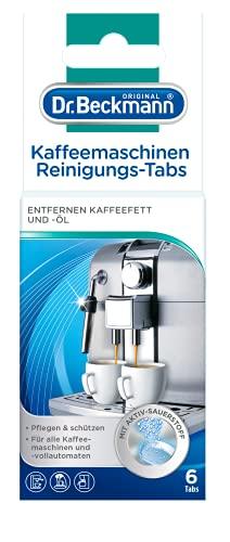 Dr. Beckmann Kaffeemaschinen Reinigungs-Tabs   entfernen Kaffeefett und -öl   mit Aktiv-Sauerstoff (6 Tabs)