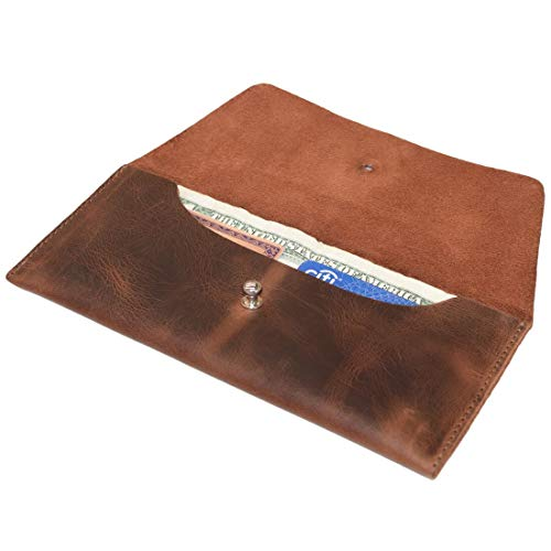 Hide & Drink, Leather Utility Pouch / Wallet / Accessories / Cover / Travel Gear / Hand Bag, Handmade Includes 101 Year Warranty :: Bourbon Brown