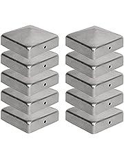 10 x Paalkappen voor Afrasteringspalen (120 x 120 mm) Gegalvaniseerd Staal Piramidevormige Afdekkap voor Houten Palen Viirkuja