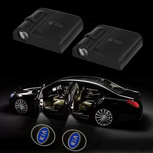 2 Pcs Wireless Car Door Led Welcome Laser Projector Logo Light Ghost Shadow Light Lamp Logos Kit (fit for kia)
