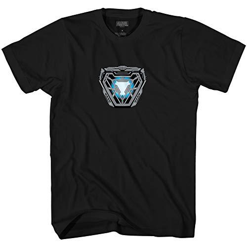 Marvel I am Iron Man Endgame Costume Arc Reactor T-Shirt (Black,Large)