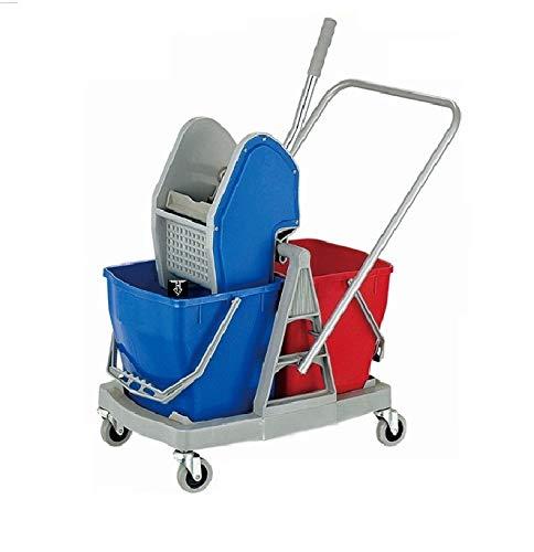 TARGET HYGIENE™ Double Bucket Mop Wringer Trolley, 36 LTR