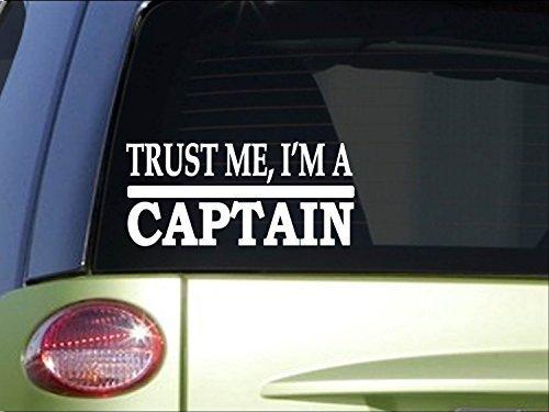 Auto Stickers en Stickers Vertrouw me Captain *H484* 8 inch Sticker sticker sticker boot schip cruise ticket
