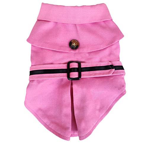 Xinwcang Haustier Kostüm für Hunde Halloween Hundekostüm Kleidung für Weihnachten Kleid Karneval Hundemantel Pink M