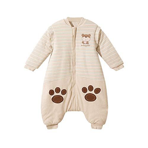 HUACANG HUACANG Baby Frühling Herbst Pyjamas Bequemer Und Nicht Reizender Stoff Warmer Babyschlafsack Fixierter Bauchschutz Abnehmbare Hülse (Farbe : A, Size : S)