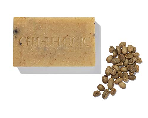 Cell-U-Logic Green Coffee and Seaweed Detox Exfoliating Soap Bar, Anti Cellulite