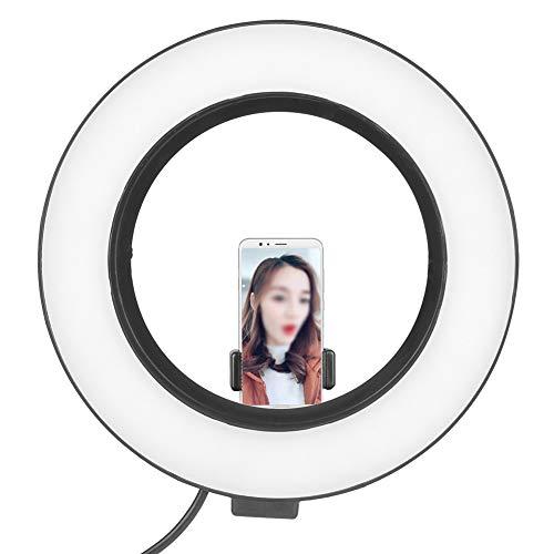 Video Invullicht, 6inch Fotografie Dimbare LED Video Live Studio Camera Ringlicht Foto Selfie Videolicht, sferisch platform, 8W hoog vermogen, laag stroomverbruik