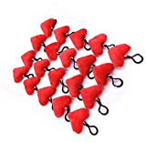 TECH-P Creative Life Sweet Heart Mini Plush Pillows Plush Toy Keychain Decorations Valentine's Gift Valentine's Home Wall Decor and Party Favor 1.5'X 2',Set of 20 (Heart)+1 PCS Coaster