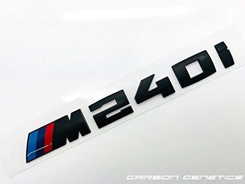 Carbon-Genetics Capot de coffre arrière noir mat insigne distinctif Stick sur tronc Pour M240i