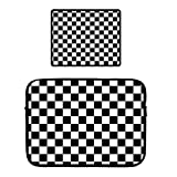 13' Laptop Zipper Sleeve Case Protective Bag Locking Edge Mouse Pad MacBook Pro, Surface Laptop, Ultrabook Notebook Checkerboard