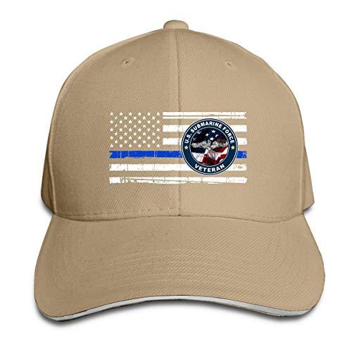 Wheatleya United States Navy U-Boot Force Veteran Aufkleber dünne blaue Linie Flagge Sandwich Hüte Baseball Cap Hut Snapback Hut Papa Hut