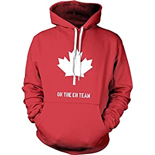 Eh Team Canada Sweater Funny Canadian Shirts Novelty Sweaters Hilarious Hoodie (Red) L