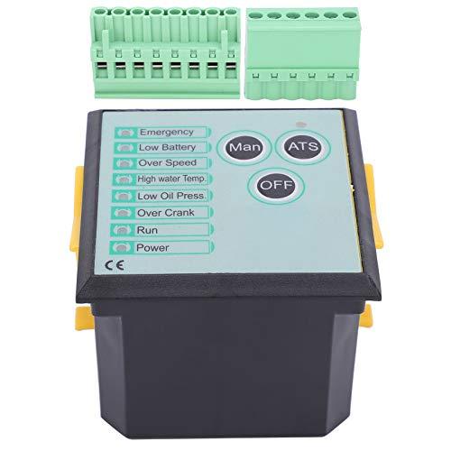 Aoutecen Dos Puertos de Salida programables Controlador de Grupo electrógeno de diseño Modular Controlador de generador de Salida de relé 5A para Motores diésel