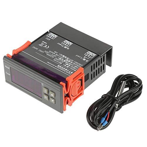 Termostato LED digital, controlador de temperatura digital, estable para almacenamiento en frío, granjas a gran escala, gestión de refrigeración de hogares con sonda(AC220V)