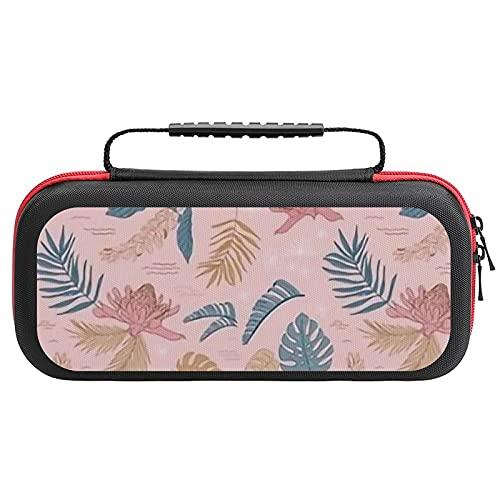 Sm. Island Flora on Kiss Petite échelle 10,5 x 10,2 cm (fleurs tropicales, jungle, plage, hawaïenne, feuilles de palmier, rose, bl, étui de transport...
