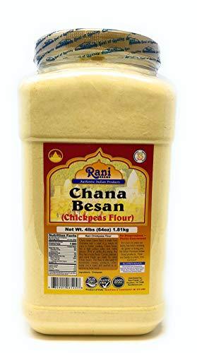Rani Chana Besan - Chickpeas Flour, Gram (Pet Jar) 4lb (64oz) ~ All Natural | Vegan | Gluten Friendly | NON-GMO | Indian Origin