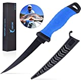 TOPFORT Outdoors Fillet Knife 6 inch, Fishing Knife with Razor Sharp Stainless Steel Blade