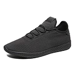 Material:All mesh knitting upper material and EVA Sole. Dimension reference Product Description and Size Chart. Knit Lightweight Casual Breathable Gym Sneakers Vegan Shoe. Provides a light touch, longer running wear, more comfortable, more fit, less ...