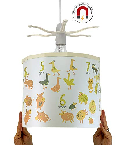 Ereki hanglampenkap, ABS, hitte- en vlambestendig, meerkleurig, wit, groen, oranje, geel, rood, bruin