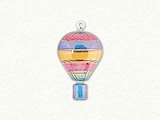 Multi Colored Hot Air Balloon Swirl Egyptian Blown Glass Christmas Ornament