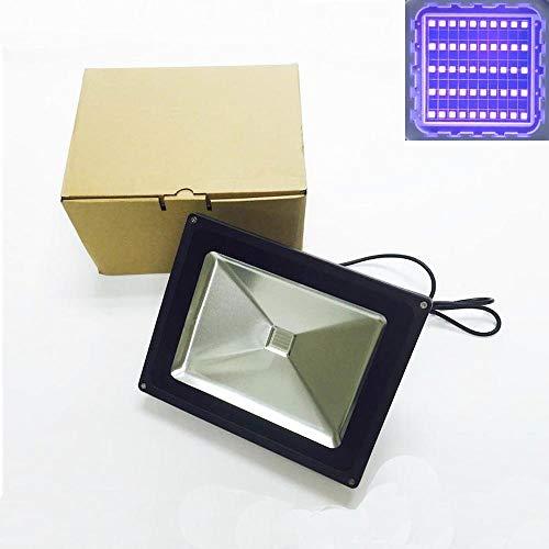 store HD Schwarzlicht Fluter Strahler: 50 Watt starke UV LED Lampe - wasserdichter Strahler für Aquarium, Partys oder als Außenbeleuchtung - großer Abstrahlwinkel - mit Stecker und schwarzem Gehäuse