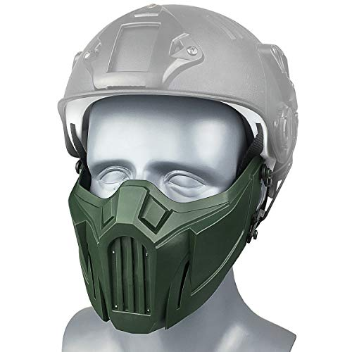 Wwman tactisch half gezichtsmasker schedel masker mesh masker voor Softair Paintball CS Colpay Halloween