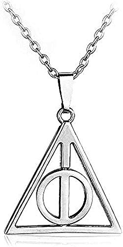 BEISUOSIBYW Co.,Ltd Necklace Gifts Fashion Men Necklace Relics Twisted Triangle Snake Hat Snitch Pendant Alloy Necklace for Fans Friends Gift