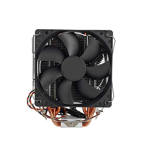 CHENHUA Ventilador de enfriamiento de Alto Rendimiento Apto for CPU Radiador 12Cm Fan 6 Tubo de Calor de Cobre 4Pin Radiador Dual Ventilador del radiador 1150/1151/1155/1156/1366/775/2011