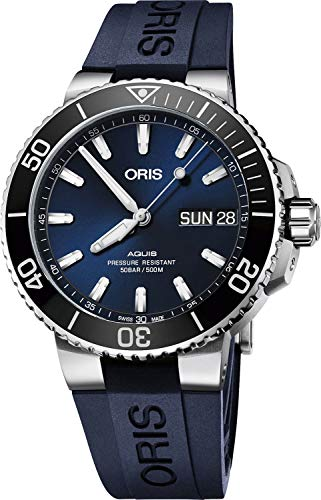 Oris Aquis Big Day Date automatico quadrante blu orologio da uomo 01 752...