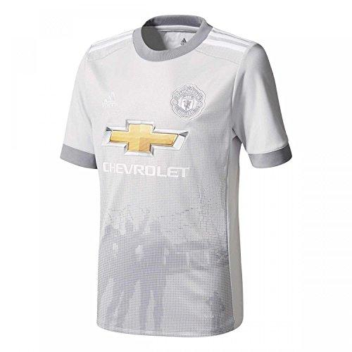 adidas MUFC 3 JSY Camiseta 3ª Equipación Manchester United 2017-2018, Hombre, Gris (grpulg/Blanco), L