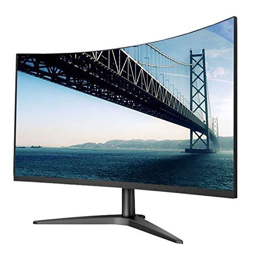 YILANJUN Monitor de Juegos - 27', FHD, LCD Pantalla para Comercial/Oficina (1920 × 1080, Pantalla Curva MVA, 178 °, Curvatura Exquisita 1700R, 60Hz, 4ms GtG, HDMI + VGA + Conector para Auriculares