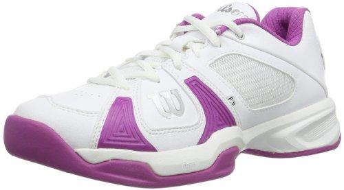 Wilson Rush Open W Fushia 7, Zapatillas de Tenis Mujer, Multicolor-Mehrfarbig (White/White/New Fuchsia), 41
