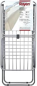 Rayen | Tendedero de aluminio | Con superficie de 20 metros | Sistema de bloque de alas | Tendedero plegable y Antideslizante | Tendedero con varillas XXL | Para interio y exterior | 177 x 55 x 92 cm