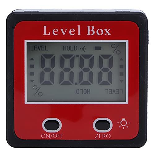 ROMACK Medidor de ángulo Digital, inclinómetro LCD de Nivel liviano para Instalar estantes y gabinetes