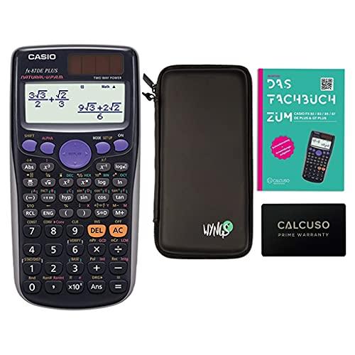 Casio FX 87 DE Plus + SafeCase protective case + 60-month warranty + Calcuso reference book