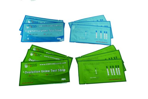 Clinical Guard 50 Ovulation Test Strips and 20 Pregnancy Test Strips Combo