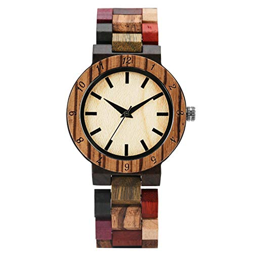 Reloj de Las Mujeresde MaderaRelojesMixtos a Todo Color de Madera Pulsera de Mujer Relojes de Pulsera onlywatch1